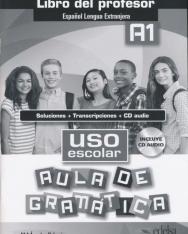 Uso escolar Aula de gramática A1 Libro del profesor - Soluciones + Transcriptiones + CD audio