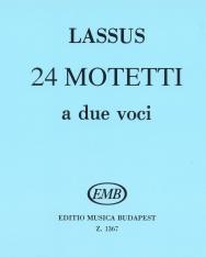Lassus: 24 kétszólamú motetta