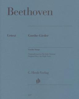 Ludwig van Beethoven: Goethe-Lieder (hohe Stimme)
