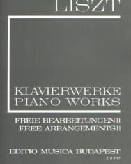 Liszt Ferenc: Freie Bearbeitungen 2. (fűzött)