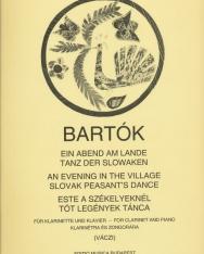 Bartók Béla: Este a székelyeknél/Tóth legények tánca - klarinétra
