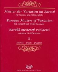 Barokk mesterek variációi 2.  - furulyára, zongorakísérettel