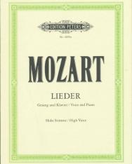 Wolfgang Amadeus Mozart: Lieder (hohe stimme)
