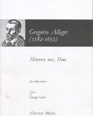 Gregorio Allegri: Miserere for nine voices