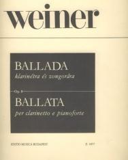 Weiner Leó: Ballada klarinétra, zongorakísérettel