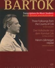 Bartók Béla: Három csíkmegyei népdal oboára zongorakísérettel