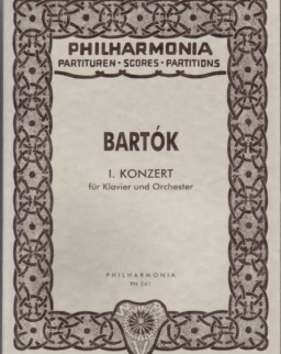 Bartók Béla: Concerto for Piano No. 1. kispartitúra
