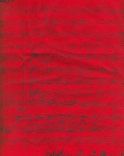 Piros, hangjegyes pamut táska