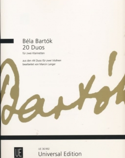 Bartók Béla: 20 Duó - 2 klarinétra