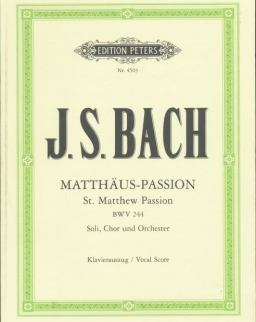 Johann Sebastian Bach: Matthaus - Passion - zongorakivonat