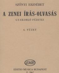 Szőnyi Erzsébet: Zenei írás-olvasás gyakorlófüzete 6.