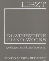 Liszt Ferenc: Années de Pelerinage 3. (fűzött)