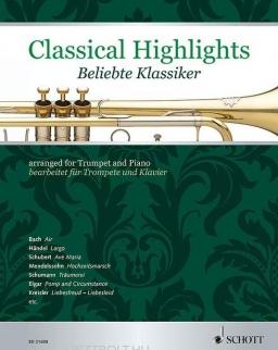 Classical Highlights for Trumpet - kedvelt művek trombitára, zongorakísérettel