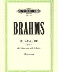 Johannes Brahms: Rhapsodies / Altrapszódia op. 33. - zongorakivonat