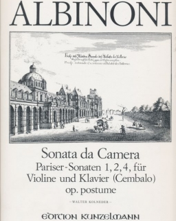 Tomaso Albinoni: Sonata da Camera - hegedűre, zongorakísérettel