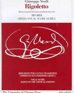 Giuseppe Verdi: Rigoletto - zongorakivonat kritikai kiadás (olasz, német)