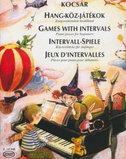 Kocsár Miklós: Hang-köz-játékok - zongoradarabok kezdőknek