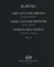 Kurtág György: Három régi felirat