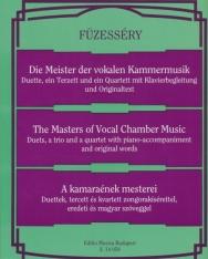 Füzesséry Tibor: Kamaraének mesterei - duettek, tercettek, kvartettek zongorakísérettel