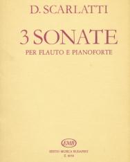Domenico Scarlatti: 3 Sonate fuvolára