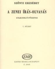 Szőnyi Erzsébet: Zenei írás-olvasás gyakorlófüzete 7.