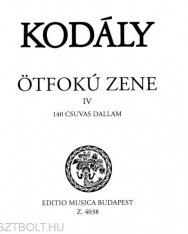 Kodály Zoltán: Ötfokú zene 4. - 140 csuvas dallam