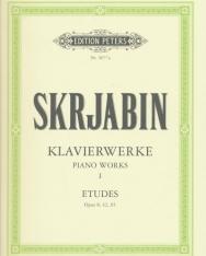 Alexander Scriabin: Klavierwerke 1. - Etudes (Urtext)