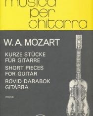 Wolfgang Amadeus Mozart: Rövid darabok gitárra