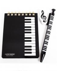 Jegyzetfüzet rotringgal, radírral - klaviatúrás
