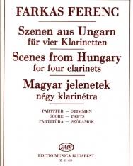 Farkas Ferenc: Magyar jelenetek 4 klarinétra