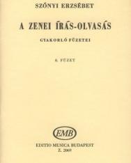 Szőnyi Erzsébet: Zenei írás-olvasás gyakorlófüzete 8.