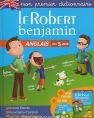 Le Robert benjamin Anglais dés 5 ans + cahier d'activités + CD-Rom