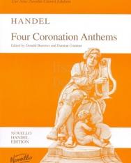Georg Friedrich Händel: Four Coronation Anthemns - zongorakivonat
