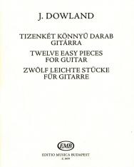 Dowland: 12 könnyű darab gitárra