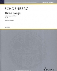 Arnold Schoenberg: Three Songs op. 48 (Sommermüd, Tot, Mädchenlied) - low voice with piano