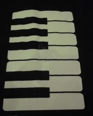 Fekete, zongorabillentyűs pamut táska