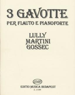 3 Gavotten fuvolára, zongorakísérettel