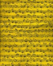 Sárga, hangjegyes pamut táska