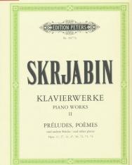 Alexander Scriabin: Klavierwerke 2. - Préludes, Poémes (Urtext)