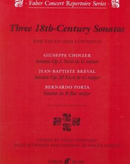 Three 18th-Century Sonatas for Cello and Continuo