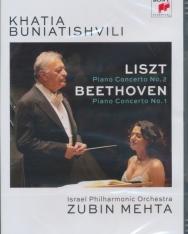 Khatia Buniatishvili: Liszt Piano Concerto no. 2, Beethoven Piano Concerto no. 1 - DVD