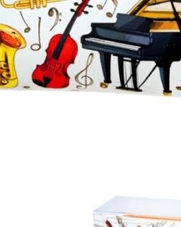 Tolltartó - színes, hangszeres