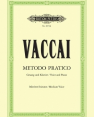 Nicola Vaccai: Metodo Practico - közép hangra