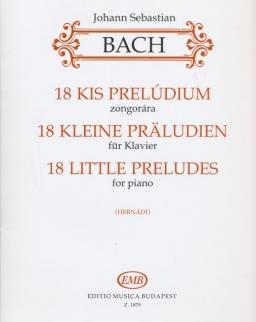 Johann Sebastian Bach: 18 kis prelúdium