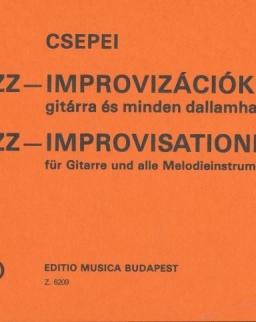 Csepei Tibor: Jazz improvizációk gitárra és minden dallamhangszerre