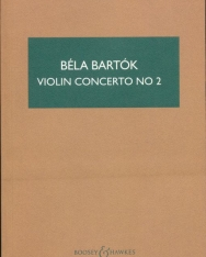 Bartók Béla: Concerto for Violin 2. - kispartitúra