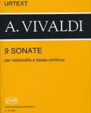 Antonio Vivaldi: 9 Sonate (cselló zongorakísérettel) Urtext