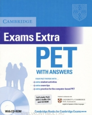 Cambridge PET Exams Extra Official Examination Past Papers Student's Book with Answers, CD-ROM and 2 Audio CDs Self-Study Pack