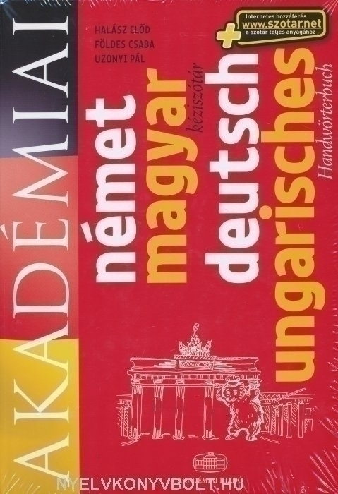Akadémiai német-magyar kéziszótár (Deutsch-ungarisches Handwörterbuch)+ szotar.net internetes hozzáférés