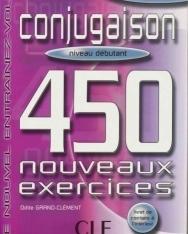 Conjugaison 450 nouveaux exercices Débutant Livre+corrigés